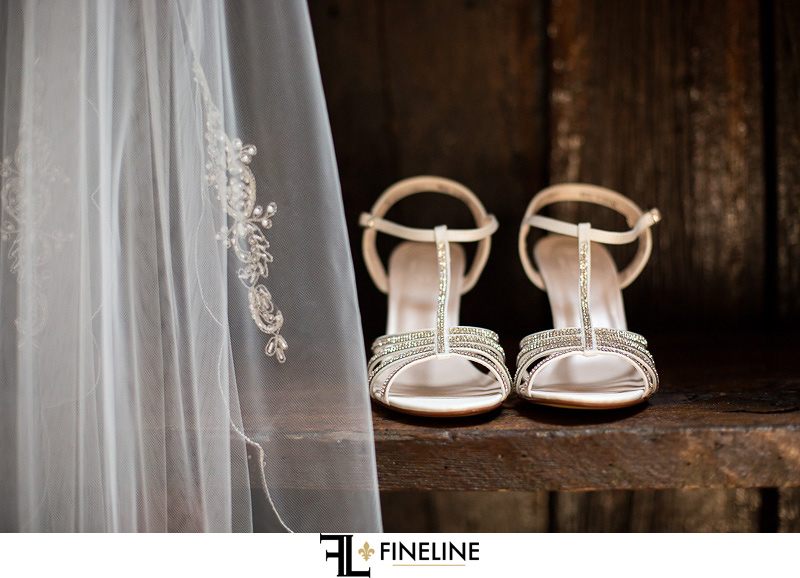 FINELINE weddings Greensburg PA brides shoes