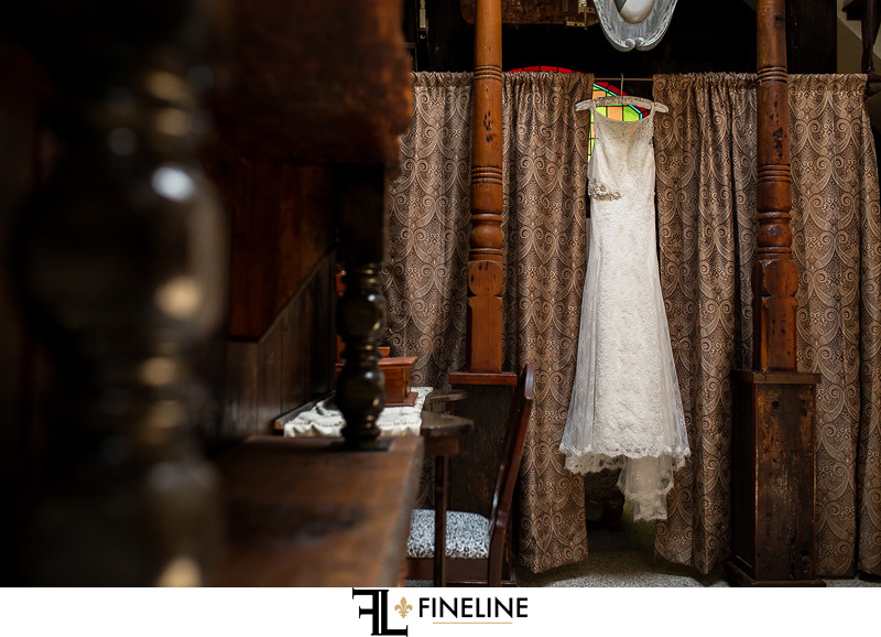 dress hanging FINELINE weddings Greensburg PA