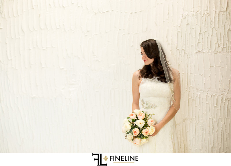 bride in all white FINELINE weddings Greensburg PA