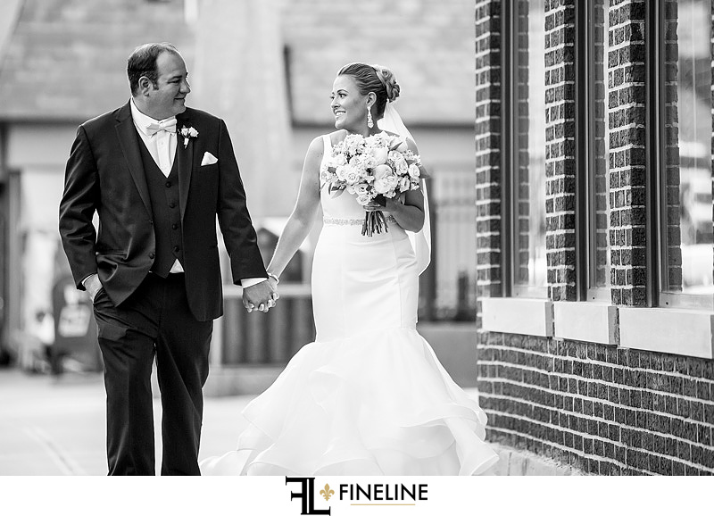 bride and groom black and white photography FINELINE weddings Greensburg PA