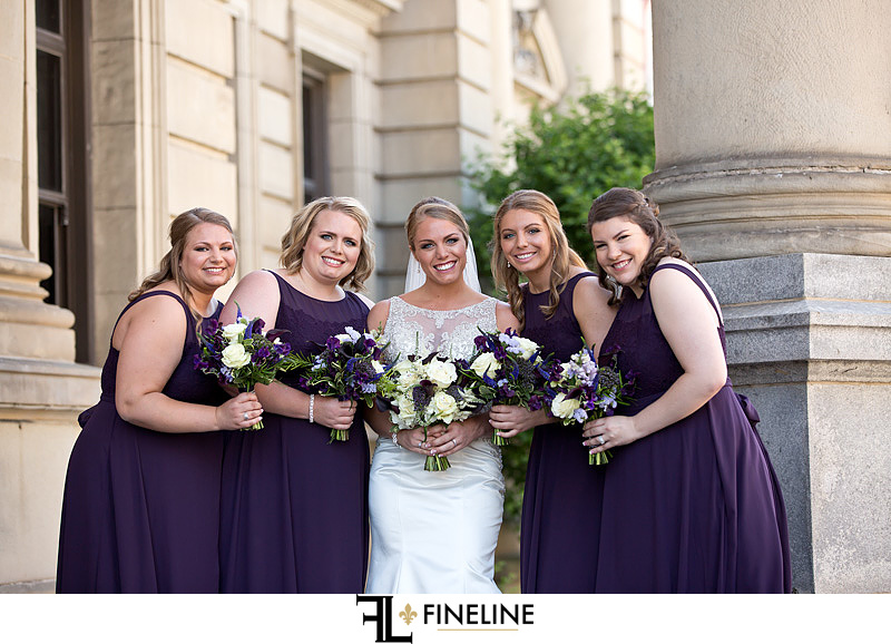George Washington Hotel Washington PA FINELINE Wedding bridal party purple dresses