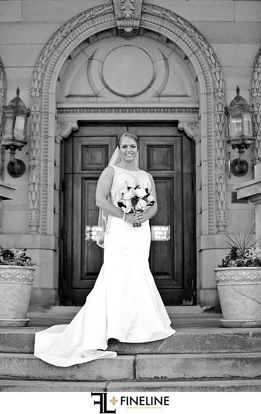 George Washington Hotel Washington PA FINELINE Weddings black and white photography