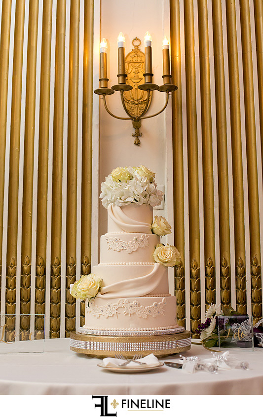George Washington Hotel Washington PA FINELINE Weddings white three tier cake