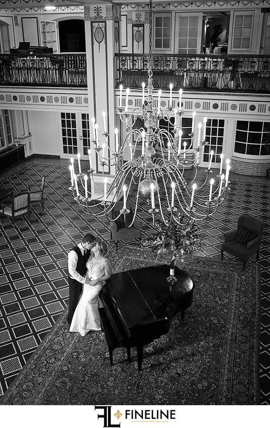 George Washington Hotel Washington PA FINELINE Weddings chandelier