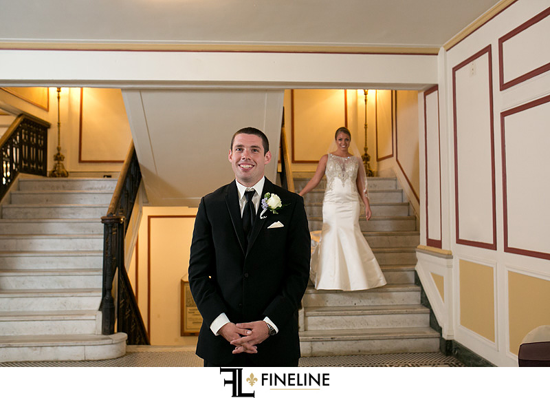 George Washington Hotel Washington PA FINELINE Wedding first look