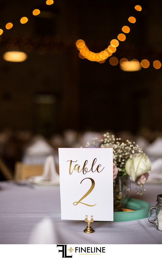 Wedding at West Overton Barn, Scottdale PA gold lettering table numbers