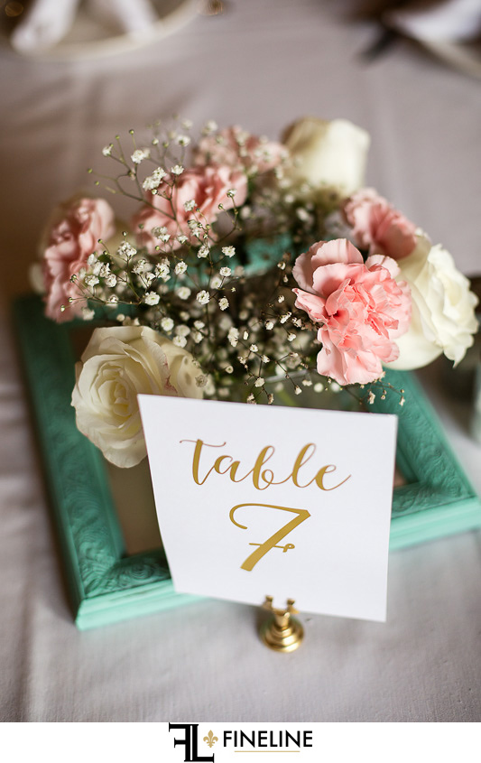 Wedding at West Overton Barn, Scottdale PA teal pink and white flowers