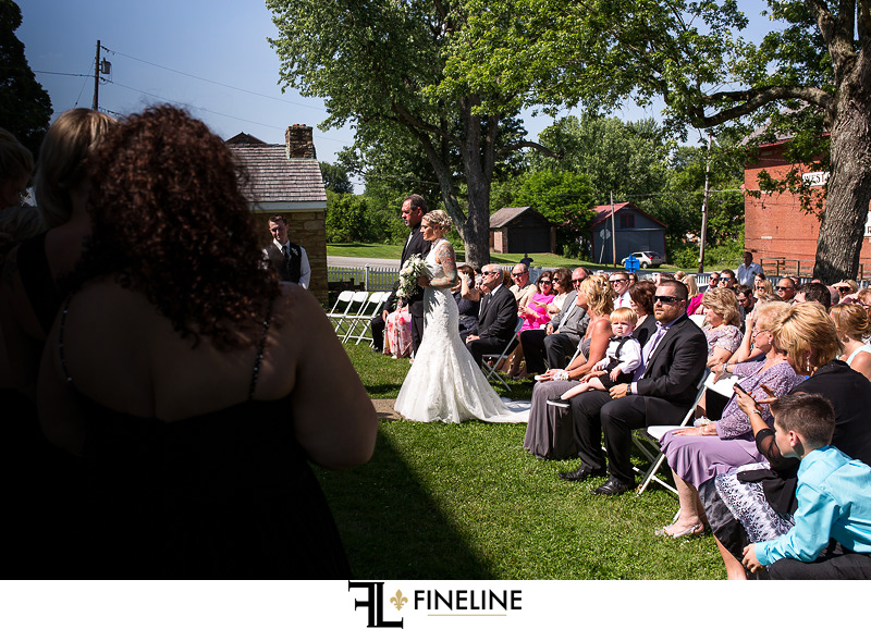 Wedding at West Overton Barn, Scottdale PA outdoor ceremony