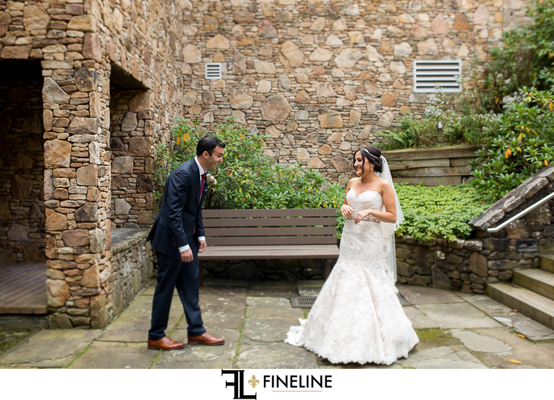 first look hidden valley FINELINE weddings Greensburg PA