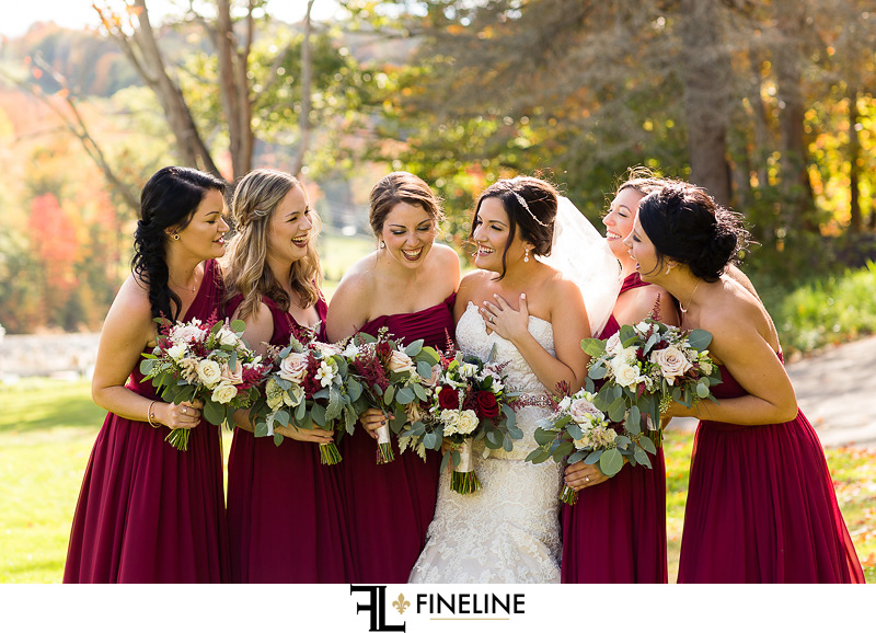 burgundy bridesmaid dresses FINELINE weddings Greensburg PA