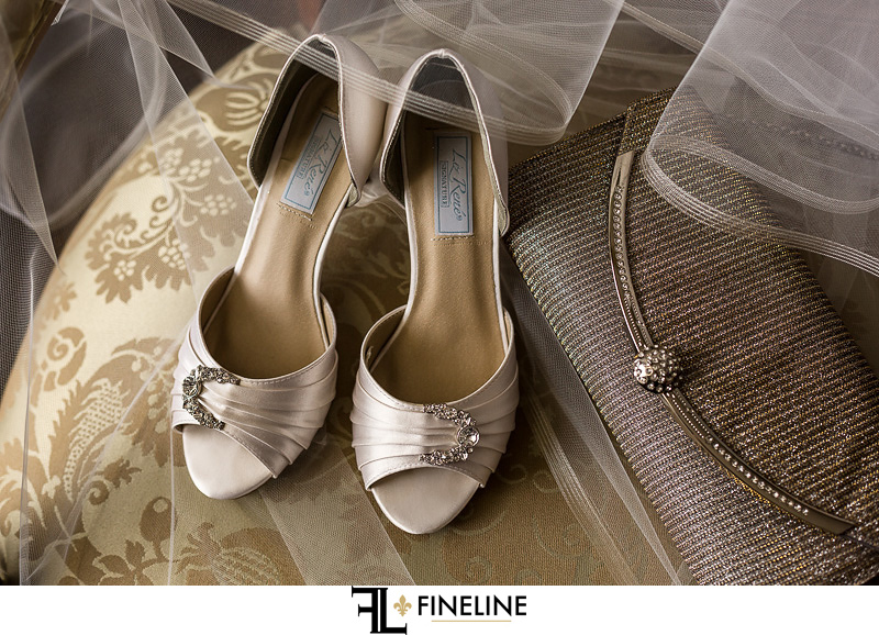 silver brides shoes