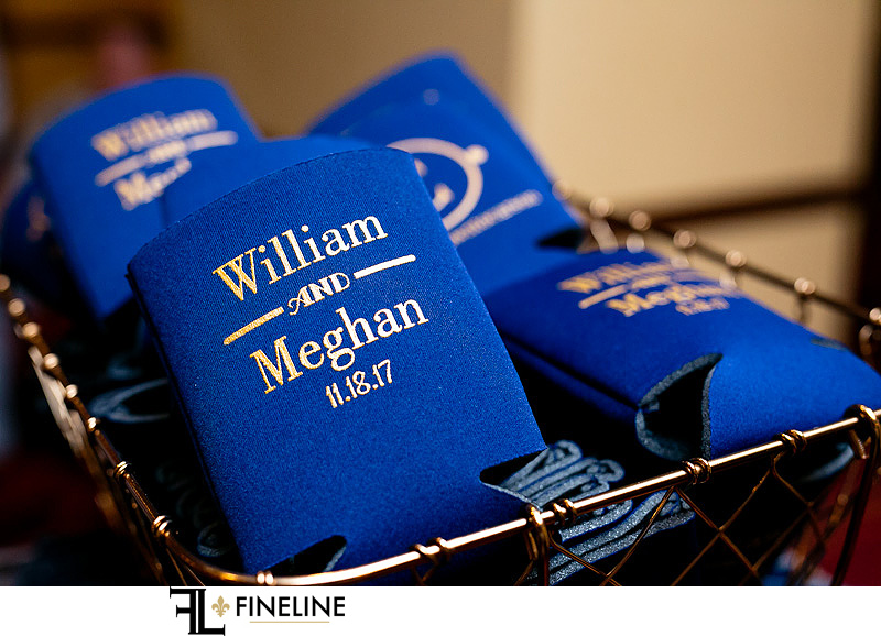 custom wedding coozies