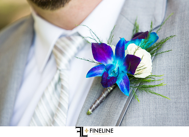lilies boutonniere FINELINE weddings Greensburg PA