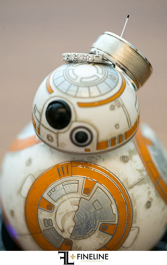 Star Wars and wedding rings FINELINE weddings Greensburg PA