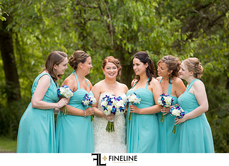 Wedding Party blue dresses