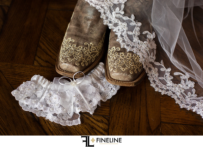 lace garder and cowboy boots