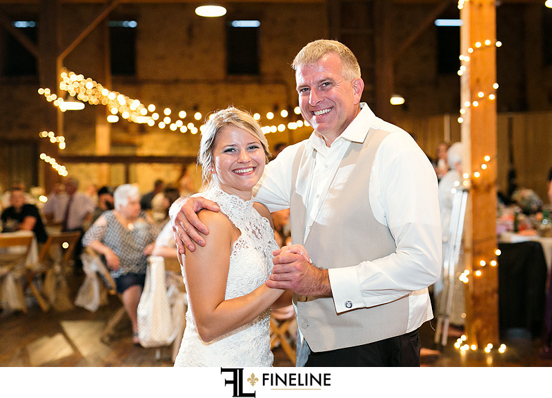 father daughter dance West Overton Barn FINELINE Weddings Greensburg PA