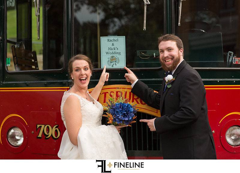 Pittsburgh trolley wedding