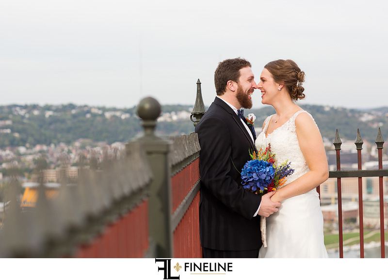 overlook of pittsburgh wedding photos