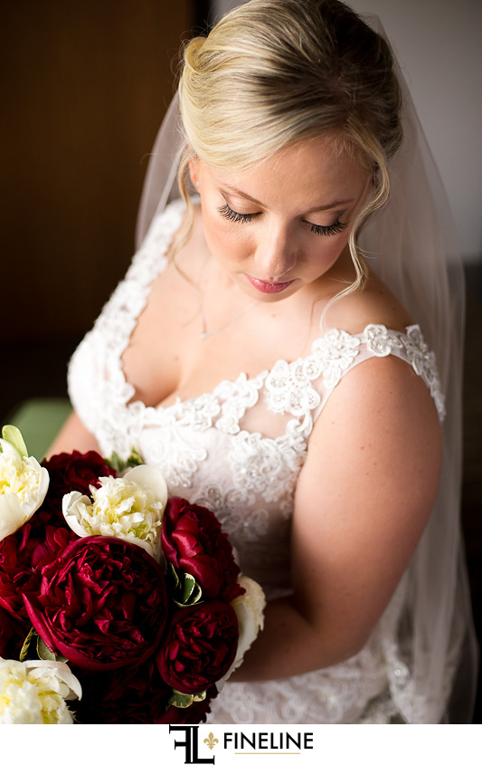 red and white flowers FINELINE weddings Greensburg PA