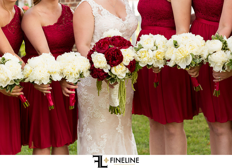red and white wedding colors
