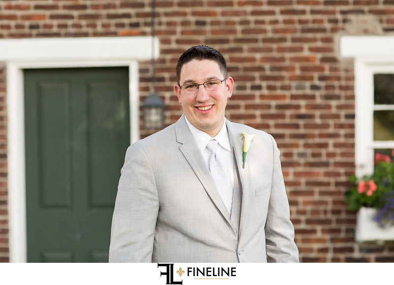 groom West Overton Barn FINELINE weddings Greensburg PA