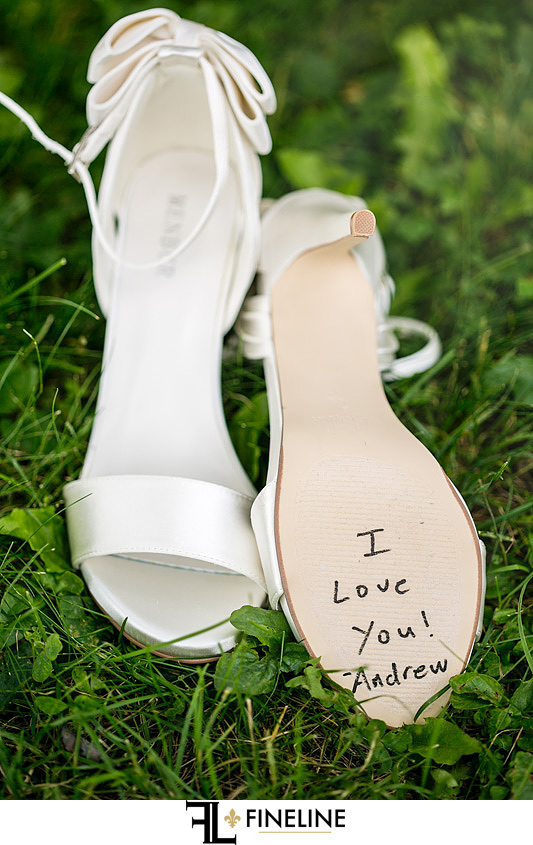 message written on shoe