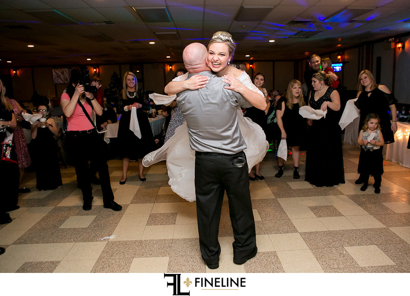 Thomas's Rostraver Central Fire Department wedding reception