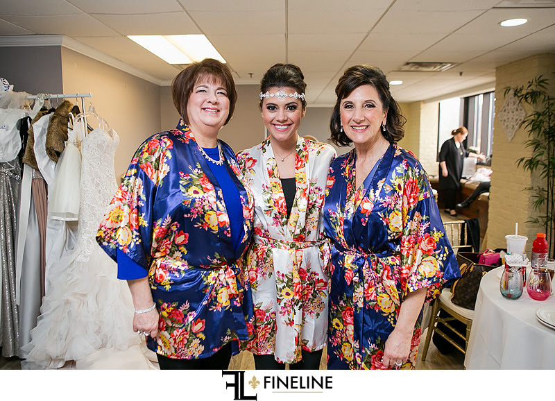 bride with the moms