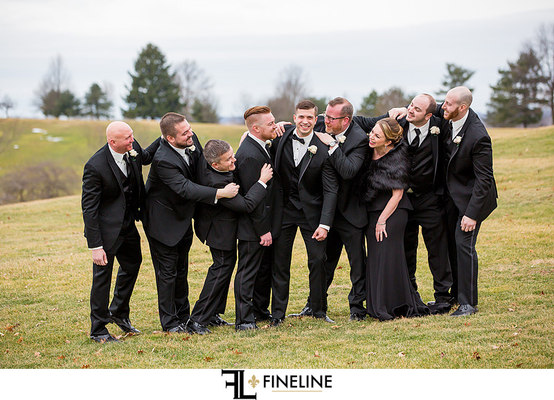 grooms side of the bridal party FINELINE  Weddings Greensburg PA