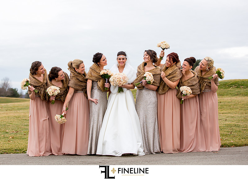 brides side of the bridal party FINELINE  Weddings Greensburg PA
