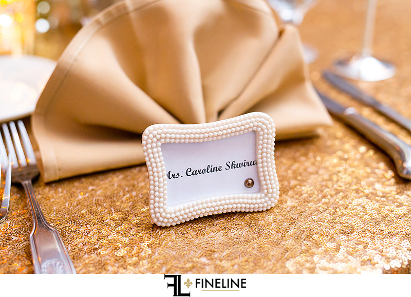 name tags in pearl frames