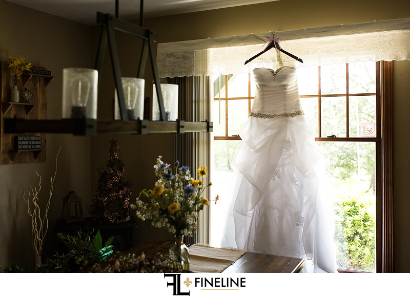 Wedding dress photos by FINELINE weddings Greensburg PA