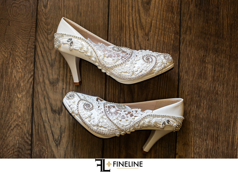 wedding heels photos by FINELINE weddings Greensburg PA