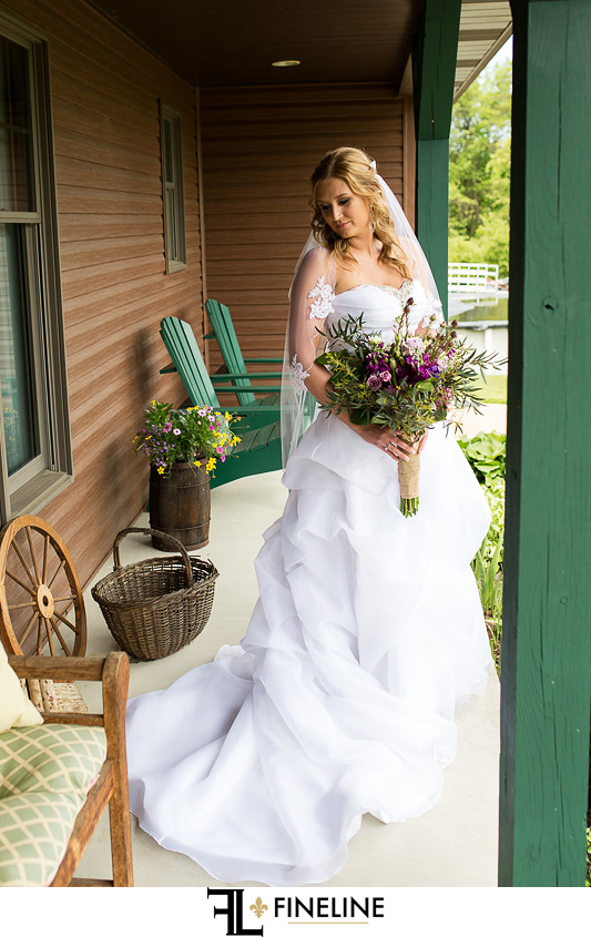 country bride photos by FINELINE weddings Greensburg PA