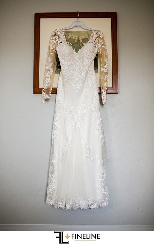 Wedding Dress hanging on picture