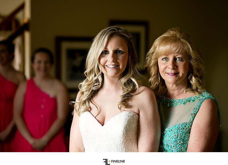 bride and mom Photos by FINELINE Weddings Greensburg PA