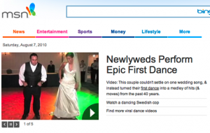 Wedding Dance Video on MSN.com