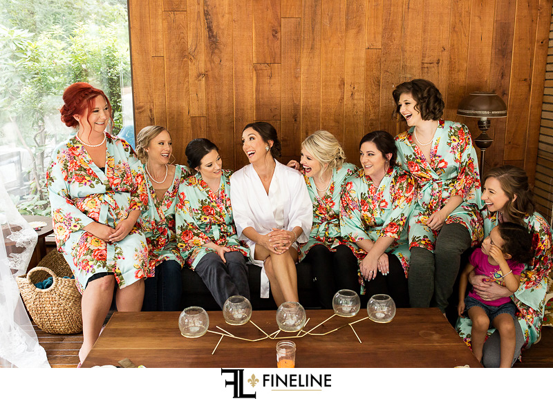 Bridemaids getting ready photo by FINELINE Weddings Greensburg, PA