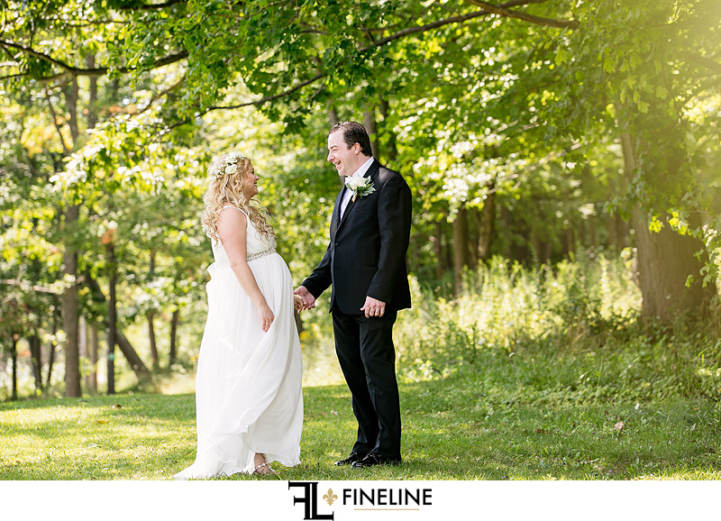 bride and groom first look FINELINE weddings Greensburg PA