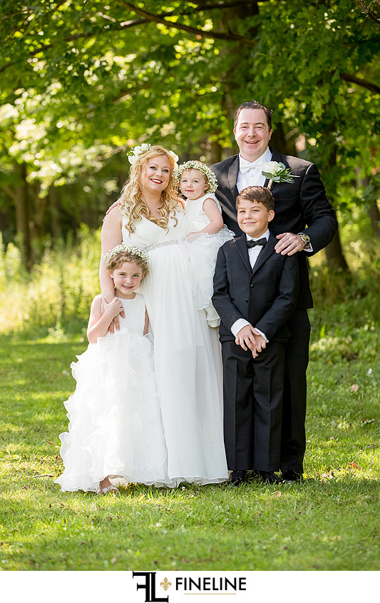 bridal party family Hidden Valley Resort FINELINE weddings Greensburg PA