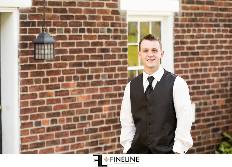 Wedding at West Overton Barn, Scottdale PA groom outdoor