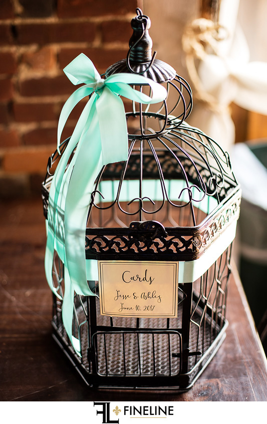 Wedding at West Overton Barn, Scottdale PA bird cage card holder