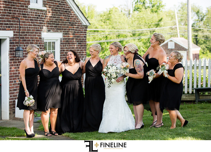 Wedding at West Overton Barn, Scottdale PA FINELINE weddings Greensburgh PA bridal party black dresses