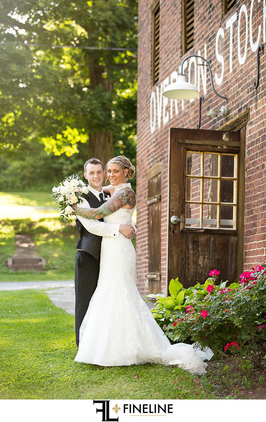 Wedding at West Overton Barn, Scottdale PA FINELINE weddings Greensburgh PA bride and groom country garden