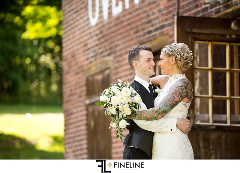 Wedding at West Overton Barn, Scottdale PA FINELINE weddings Greensburgh PA bride and groom country garden barn