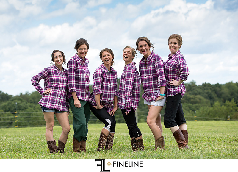 wedding party monogram flannel shirts