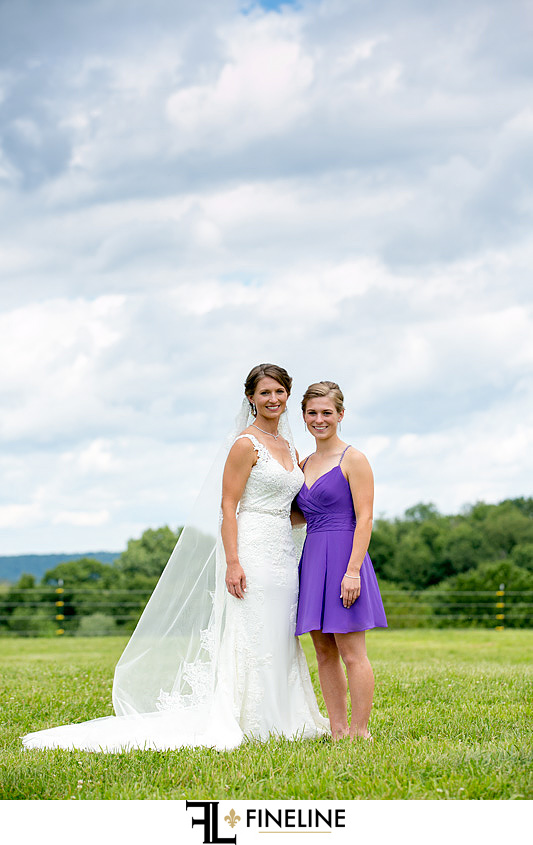 Bridal Party in field country wedding FINELINE weddings Greensburg PA