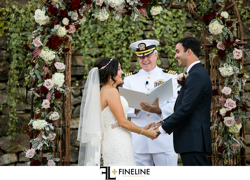 married by and military man in uniform