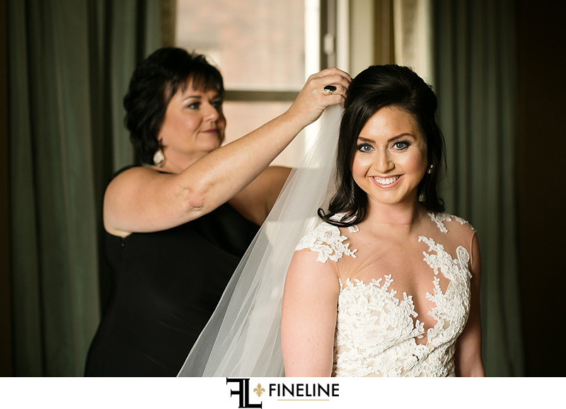 bride with veil photo by FINELINE Weddings Greensburg PA